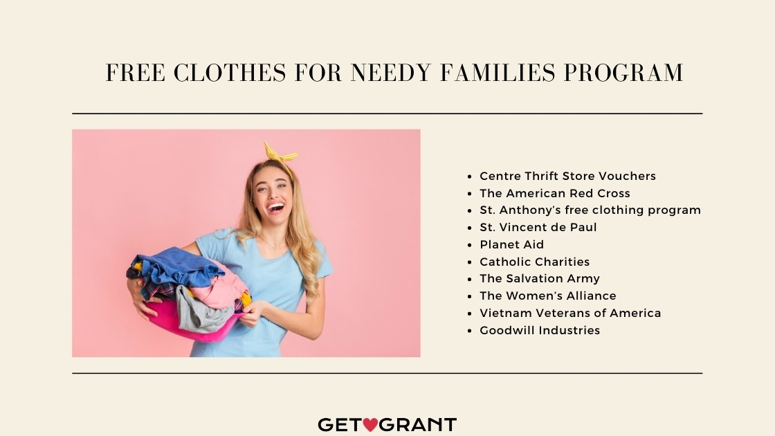 Free Clothes For Needy Families Program